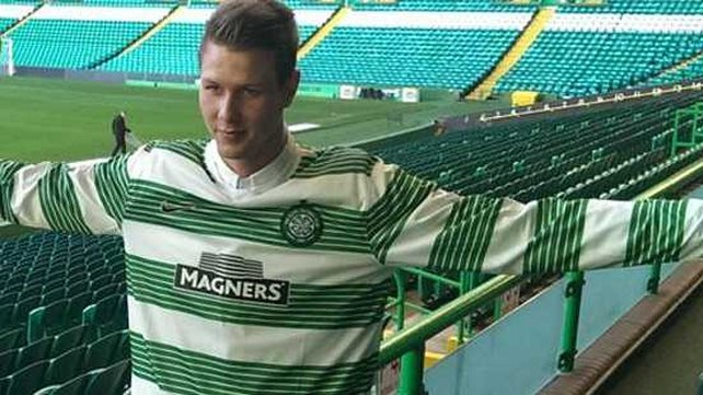 Holmbert Fridjonsson will officially join Celtic in the new year (pic: Celticfc.net)