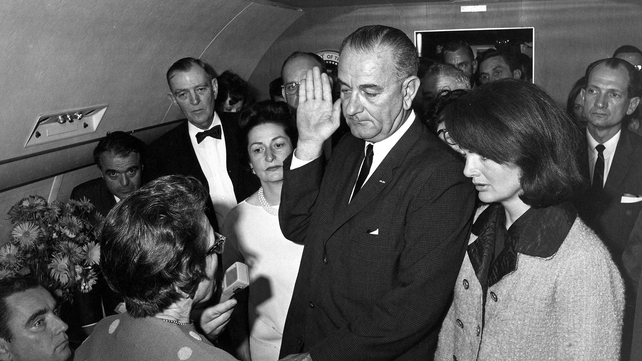 Lyndon B Johnson was sworn into office with Jacqueline Kennedy by his side (Pic: Cecil Stoughton. White House Photographs. John F. Kennedy Presidential Library and Museum, Boston)
