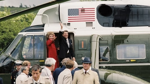 Ronald Reagan displayed his Irish roots during a visit to Ballyporeen in 1984