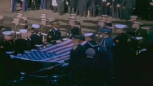 The cadets formed a guard of honour at US President John F Kennedy's graveside