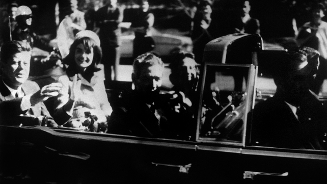 John F Kennedy was shot dead later that day by Lee Harvey Oswald