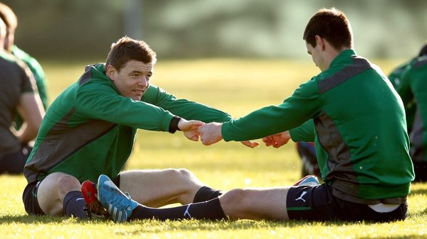 Neither Brian O'Driscoll nor Jonathan Sexton took part in Ireland training
