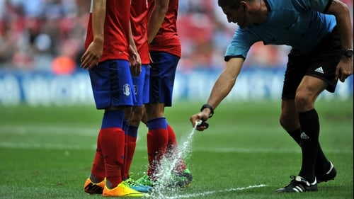 The vanishing spray has been a big success in South America and in underage competitions