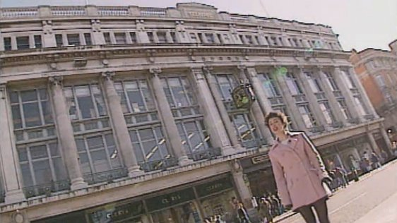 Jennifer Keegan outside Clerys, 1995