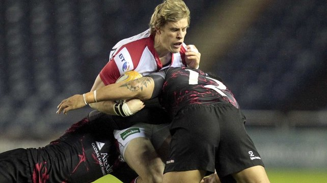 Andrew Trimble takes his place on the wing against Edinburgh