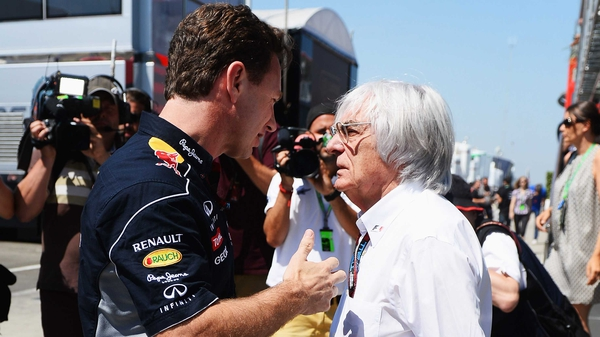 Bernie Ecclestone (r): 'We could have a transitional period. It needs someone who knows the sport'