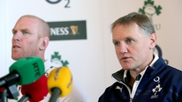 Joe Schmidt and Paul O'Connell meet the press to announce the Irish rugby team to face New Zealand.