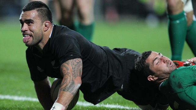 Liam Messam was among the try-scorers as when New Zealand beat Ireland 60-0 in June of 2012