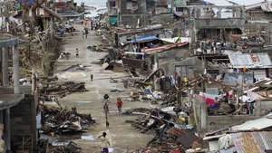 Coastal towns, including Marabut in Eastern Samar province, are struggling to recover from Haiyan