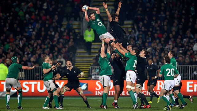 Ireland in action against New Zealand in 2012