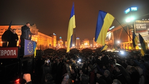 Vitaliy Klitschko, World Heavyweight Boxing champion and leader of the Ukrainian political party UDAR (Punch), addresses Kiev rally