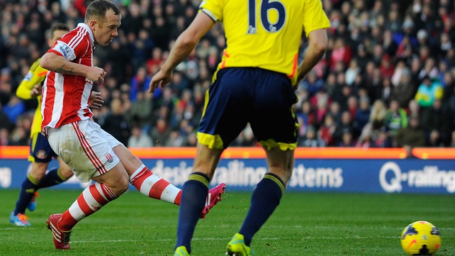 Charlie Adam opens the scoring for Stoke