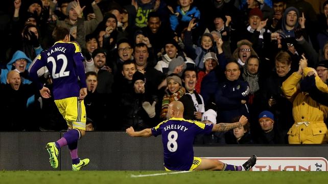 Jonjo Shelvey celebrates netting Swansea's winner
