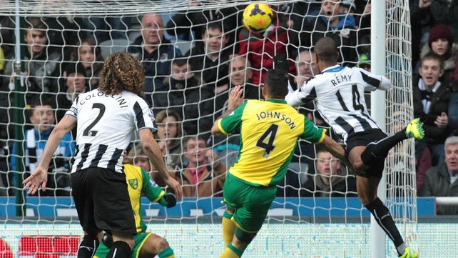 Loic Remy headed home Newcastle's opener