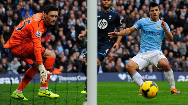 Sergio Aguero slots home for City