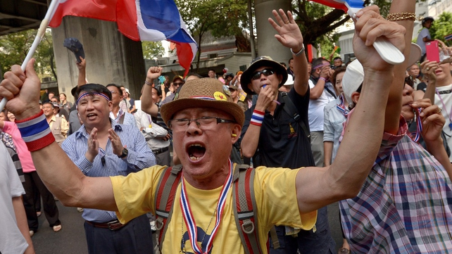 Demonstrators are seeking the overthrow of the country's prime minister