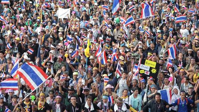 Protest leaders have urged demonstrators to occupy government buildings