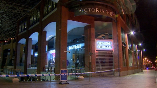 The Victoria Square shopping centre was evacuated