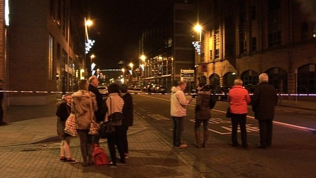 A number of homes were evacuated in Belfast last night