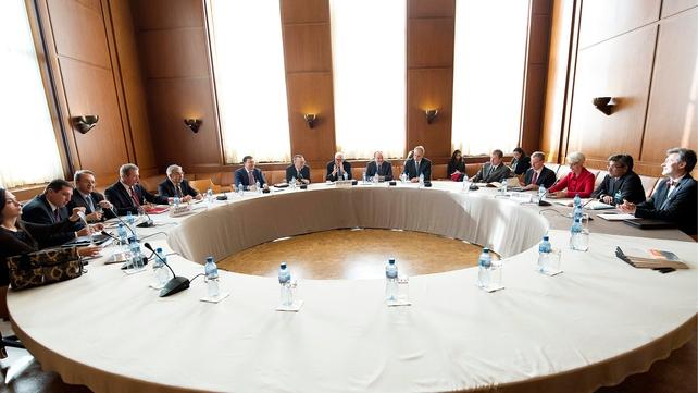 Lakhdar Brahimi met senior US and Russian officials in Geneva