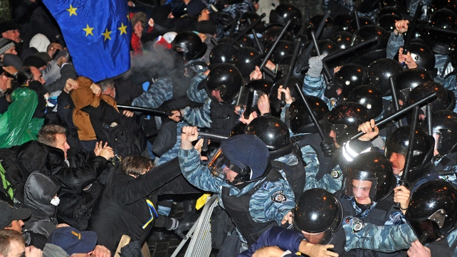 Police fired tear gas at demonstrators