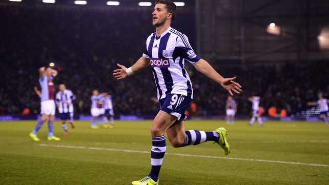 Shane Long scored twice but Aston Villa left the Hawthorns with a point