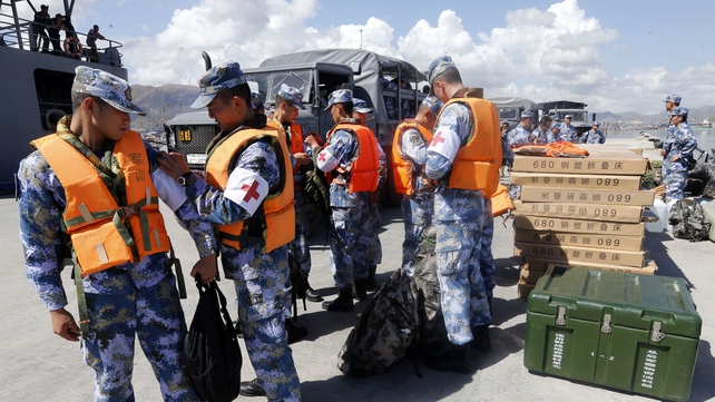 Chinese medical teams have set up a field hospital in Tacloban