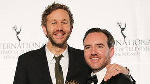 Chris O'Dowd and Nick Vincent Murphy at the International Emmys, 2013