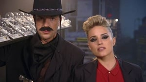 Dianna Agron is transformed into Brandon Flowers