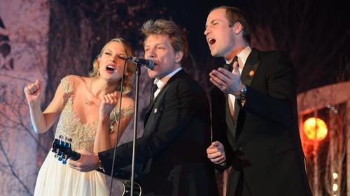 Taylor Swift, Bon Jovi and Prince William