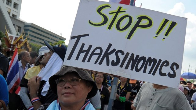 Protesters are hoping to oust prime minister Yingluck Shinawatra