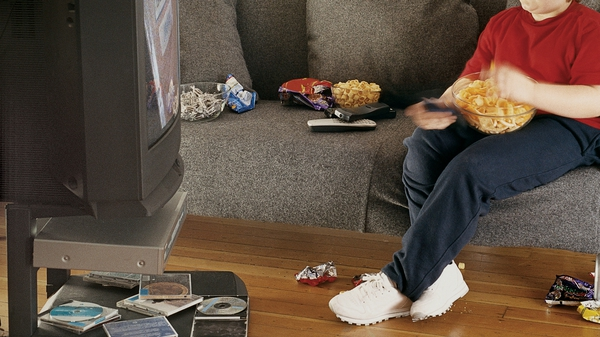 Calorie intake was linked with the amount of time children spent in front of TV or computer screens
