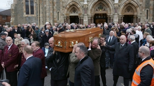 Mourners were told Fr Reid believed dialogue was the most powerful way of resolving conflict (Laura Hutton/Photocall Ireland)