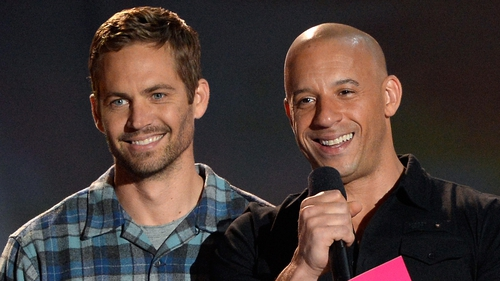 Paul Walker with Fast and Furious co-star Vin Diesel