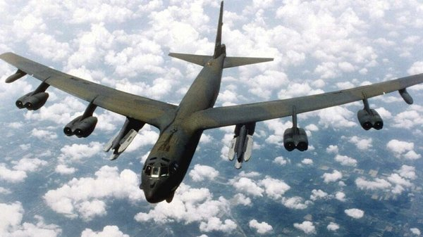 The US flew unarmed B-52 bombers over the islands on Tuesday