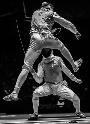 The Golden Touch - Fencing at the Olympics (Sergei Ilnitsky, Russia, European Pressphoto Agency)