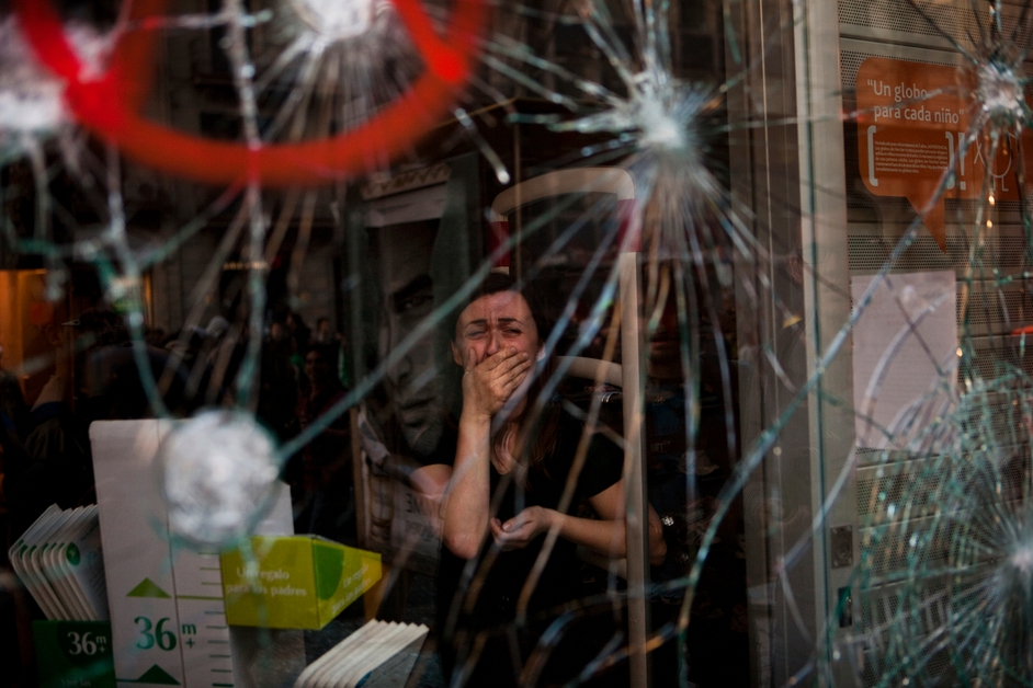 Shop Stormed by Demonstrators, Barcelona, Spain (Emilio Morenatti, Spain, The Associated Press)