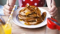 Caramelised Banana Pancakes  - I love making American-style pancakes for breakfast and this version is particularly delicious. It is perfect for special occasions!