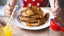 Donal is a mega pancake fan and these are one of his treat options