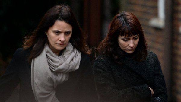 Sisters Elisabetta 'Lisa' and Francesca Grillo (right) arrive at Isleworth Crown Court in London