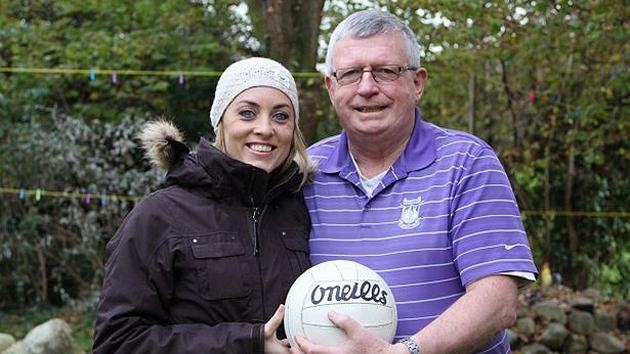Operation Transformation presenter Kathryn Thomas gives Paudie O'Mahoney the good news