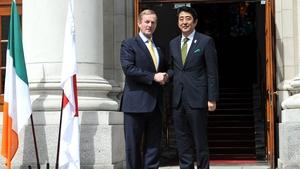 Taoiseach Enda Kenny and Japanese Prime Minister Mr Shinzo Abe in Dublin in June