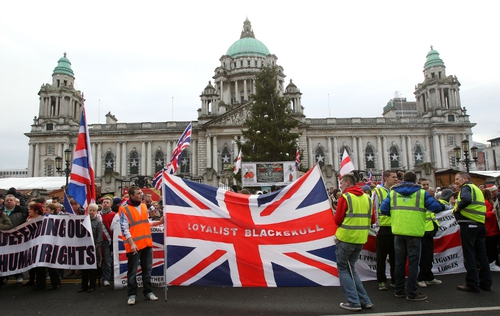 There were major protests after Belfast City Council limited the days it flew the Union flag