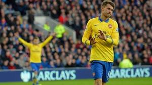 Aaron Ramsey of Arsenal didn't celebrate after scoring his two goals