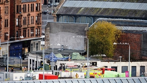 Witnesses said the helicopter came down 'like a stone' from the sky and hit the roof of 'The Clutha' at 10.25pm yesterday