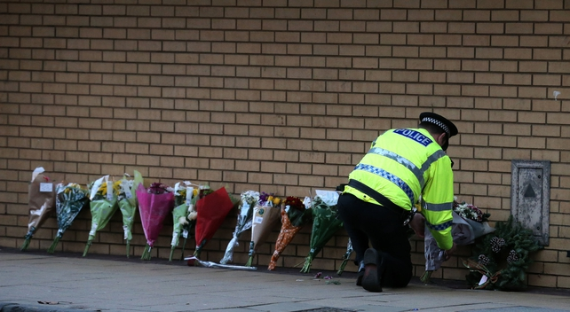 Flowers left in tribute to victims of tragedy