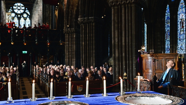 Special prayers were said for the victims at a service at Glasgow Cathedral