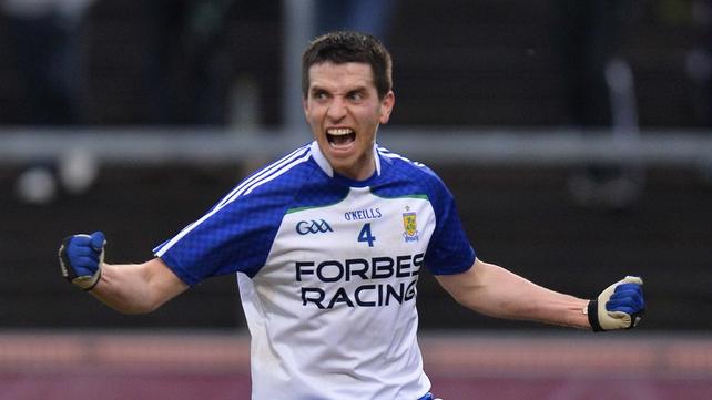 Ballinderry's Michael McIver celebrates scoring