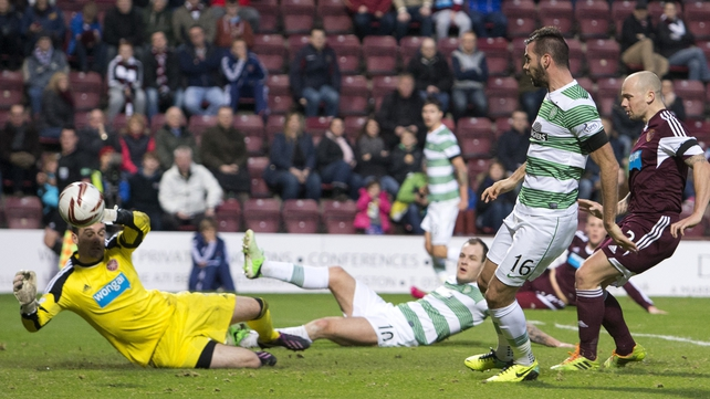 Joe Ledley scores Celtic's fourth goal
