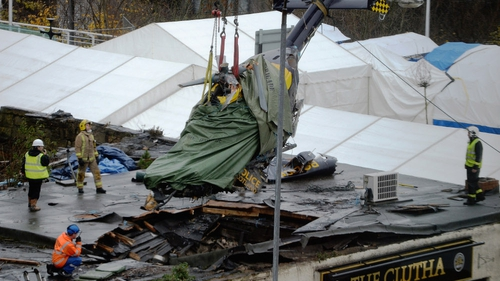 Nine people died when the helicopter crashed into the Clutha pub in Glasgow